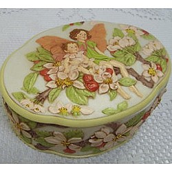 Flower Fairy Apple Blossoms Jewelry Box
