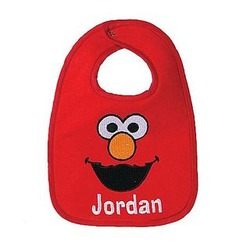 Personalized Sesame Street Embroidered Bib
