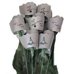 New Year Paper Roses