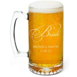 Personalized Bride Beer Mug