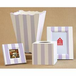 Hand Painted Tissue Box & Waste Basket Set