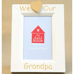 I Heart Grandpa Hand Painted Picture Frame