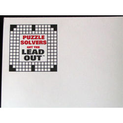 """Puzzle Solvers Get the Lead Out"" Crossword Note Pad"
