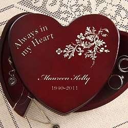 Personalized Always In My Heart Jewelry Box