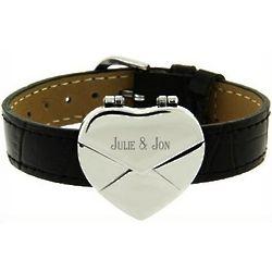 Secret Message Heart Envelope Bracelet Band