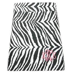 Personalized Zebra Print A-Line Waist Apron