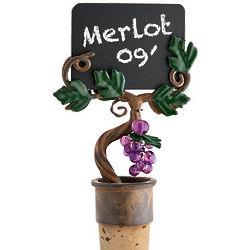 Vineyard Chalkboard Wine Stopper