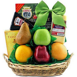 Cheese & Fruit Delights Gift Basket