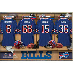 Personalized Buffalo Bills Locker Room Canvas Print