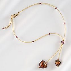 Venetian Blown Glass Heart Necklace