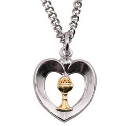 First Communion Heart Pendant