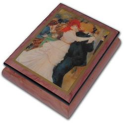 Couple Dancing Inlaid Ercolano Art Musical Jewelry Box
