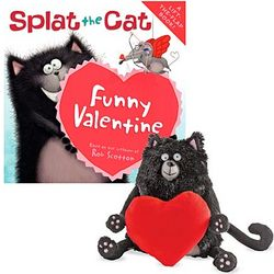Splat the Cat Funny Valentine Flap Book and Stuffed Animal