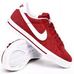 Sweet Classic Red Leather Sneakers