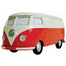 Red and Beige Volkswagen Bus Stereo Speaker and Radio