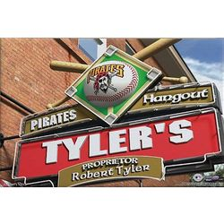 Pittsburgh Pirates Personalized Pub Sign Canvas