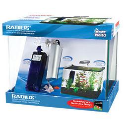 Radius 5 Gallon Curved Corner Glass Aquarium Kit