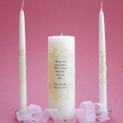 This Day Oval Lace Unity Candle