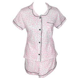 Cheetah Print Short Pajama Set