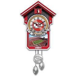 Kansas City Chiefs NFL Tribute Cuckoo Clock