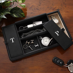 Monogram Leather Men's Watch & Jewelry Valet