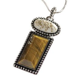 Tiger's Eye Multi-Stone Pendant