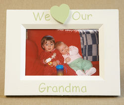 I Heart Grandma Hand Painted Picture Frame