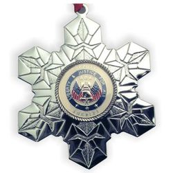 Engraved Deputy Sheriff Snowflake Christmas Ornament