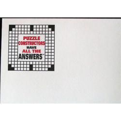 """Puzzle Constructors Have All the Answers"" Crossword Note Pad"