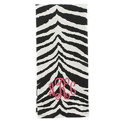 Personalized Zebra Kitchen Towel