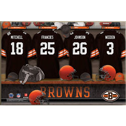 Personalized Cleveland Browns Locker Room Canvas Print