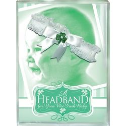 Irish Baby Headband with Green Shamrock