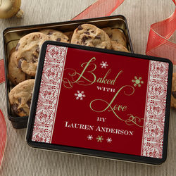 Personalized Christmas Cookies Gift Tin
