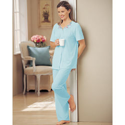 Women's Shadowline Embroidered Roses Pajamas