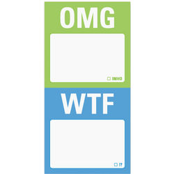 OMG and WTF Mini Sticky Notes
