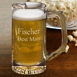 Personalized 12 Ounce Sports Beer Mug