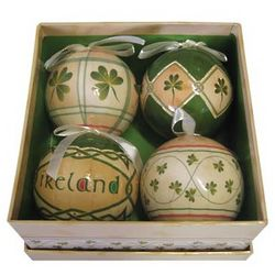 Irish Shamrock Ceramic Ornaments
