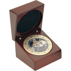 Deluxe Engraveable World Time Clock