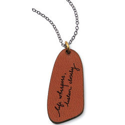 Life Whispers Leather Pendant Necklace