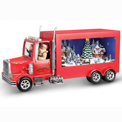 Animated Santa's Delivery Truck Figurine