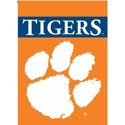 Double-Sided Clemson Tigers Garden Flag