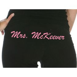 Mrs. Custom Embroidered Sweatpants