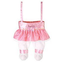 Personalized Ballerina Bunny Legs Tote