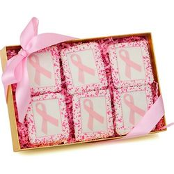 Pink Ribbon Picture Graham Cookie Gift Box