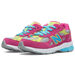 Kid's Grade School 990v3 Pink Shoes