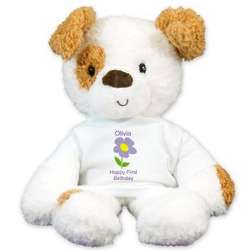 Personalized Happy Birthday Dog Stuffed Animal