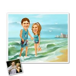 Vacation Days Beach Custom Caricature