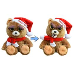 Ebeneezer Claws Santa Bear Growling Feisty Pet Stuffed Animal