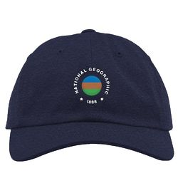 National Geographic Vintage Flag 1888 Navy Hat