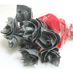 Bouquet of 3 Duct Tape Roses